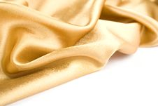 Free Gold Fabric Royalty Free Stock Photos - 14451158