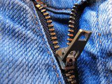 Free Zipper Jeans Royalty Free Stock Photo - 14451385