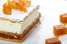 Free Fresh Cream Cake With Apricots Royalty Free Stock Image - 14451426
