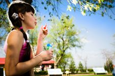Free Girl With Soap Bubbles Stock Images - 14451694