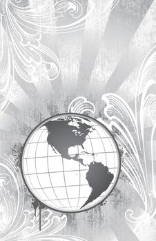 Etched Globe Royalty Free Stock Images