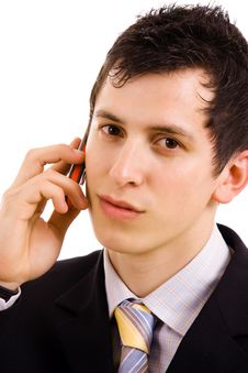 Free Business Man On The Phone Royalty Free Stock Photography - 14452157