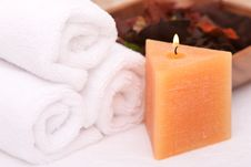Free Spa Candle Royalty Free Stock Photo - 14452345