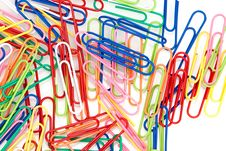 Free Colorful Paper Clips Royalty Free Stock Images - 14452419
