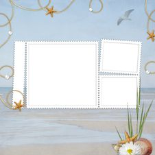 Free Sea Card For The Holiday Royalty Free Stock Photo - 14452435