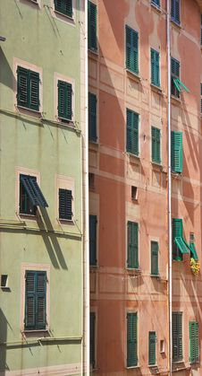 Free Coloured Walls Of An Italian Town Royalty Free Stock Image - 14452496