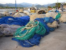Free Fishing Nets Royalty Free Stock Image - 14452626