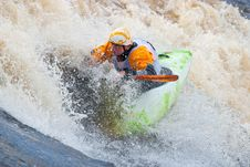 Free Freestyle On Whitewater Stock Photography - 14452662