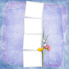 Free Card For The Holiday  With Flowers Stock Photography - 14452752