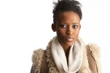 Free Young Woman Wearing Winter Clothes In Studio Stock Images - 14452834