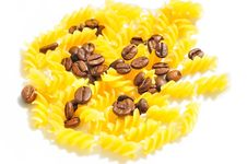 Pasta And Coffee Stock Photos