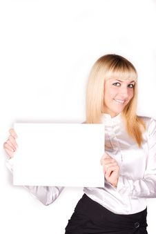 Young Beautiful Blonde Businesswoman Royalty Free Stock Image