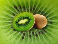 Kiwi On Kiwi Stock Image