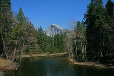Free Half Dome With The Merced River Stock Photos - 14454653