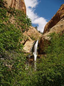 Lower Calf Falls Escalante, Utah Stock Photography