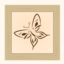 Free Framework With The Butterfly Royalty Free Stock Image - 14455286