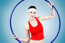 Free Girl With A Hoop Stock Photo - 14455700