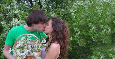 Free Kissing Couple Royalty Free Stock Photography - 14455887