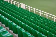 Emty Green Seats Royalty Free Stock Images