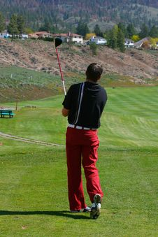 Free Young Golfer Royalty Free Stock Images - 14456939
