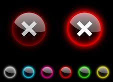 Free Abort Button. Royalty Free Stock Photos - 14457188