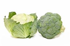 Cauliflower And Cabbage Royalty Free Stock Photography