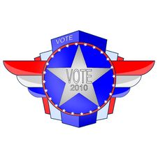 Free Vector 2010 Election Emblem Stock Images - 14457614