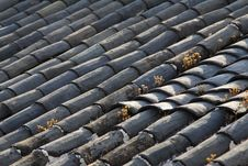 Free Old Tile Roof Stock Image - 14457661