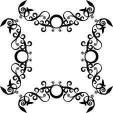 Ornament Black  71 Royalty Free Stock Photography