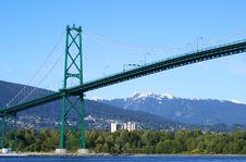 Free Suspension Bridge Royalty Free Stock Photos - 14458198