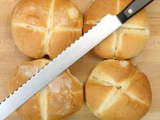 Free Fresh Bread Rolls Royalty Free Stock Photo - 14458295