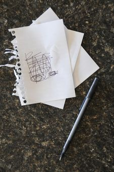 Free Scribble On Notes Royalty Free Stock Image - 14458346