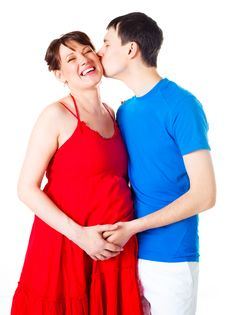 Free Pregnant Woman And Her Husband Royalty Free Stock Photos - 14458358