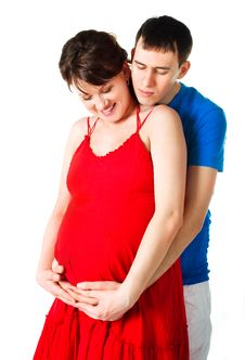 Pregnant Woman And Her Husband Stock Photo