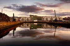 Free Morning At Industrial Docks In Galway Do Stock Photo - 14459030