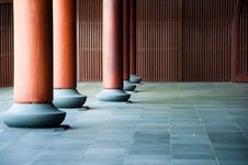 Free Structural Columns. Stock Image - 14459181