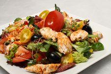 Free Chicken Salad Detail Stock Image - 14459311