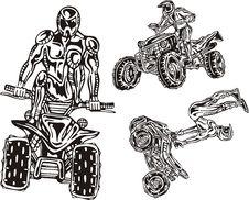 ATV Riders 8. Stock Photo