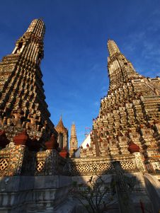 Wat Arun Pagoda In Bangkok Thailand Stock Photos
