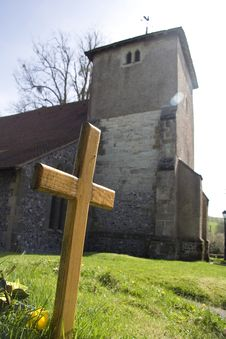 Free Cross And Church Stock Photo - 14460850