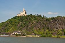 Marksburg In Famous Rhine Valley Stock Image