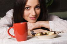 Free Beautiful Lady Drinking Tea Stock Photos - 14461063