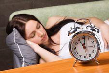 Free Beautiful Woman Sleeping Royalty Free Stock Image - 14461076