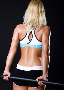 Back Of Sexy Sportswoman Stock Photography