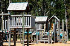 Wooden Playground Equipment Stock Image