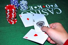 Free Four Aces And Red Clips Stock Images - 14462114