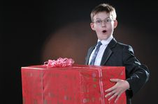 Free Boy And Gift Royalty Free Stock Image - 14462176