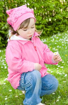 Free Little Girl In Park Stock Photography - 14462832