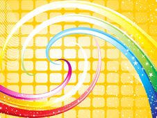 Abstract Rainbow Theme Base Wave Stock Image
