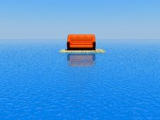 Sofa In The Sea Stock Photography